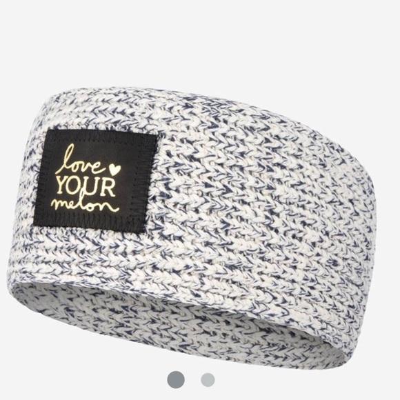 LYM Black Speckled Gold Foil Knit Headband 11c8a8a11ed